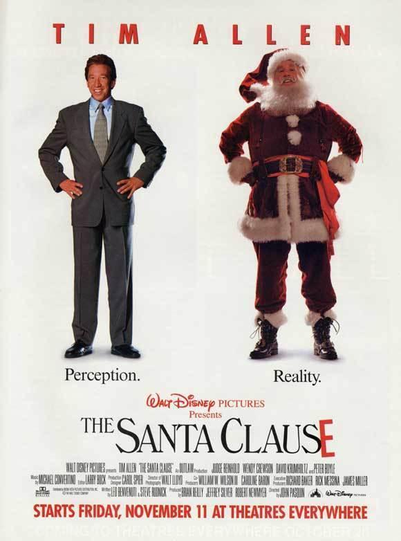 THE SANTA CLAUSE Movie POSTER 27x40 C Tim Allen Eric Lloyd Judge Reinhold Wendy