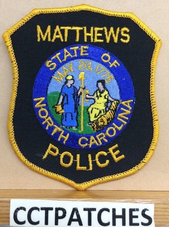 MATTHEWS, NORTH CAROLINA POLICE SHOULDER PATCH NC