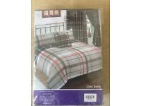 Bumper set single duvet + Curtains cleo black
