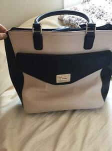 Black and beige Nine West purse