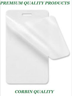 100 Luggage Tag 5 Mil Laminating Pouches Sheets Wslot 2.5 X 4.25 Quality