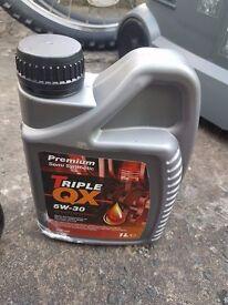 Car Engine Oil Triple QX SEA SAE 5W30 Multigrade Semi Part Synthetic 1L 1 Litre