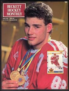 Beckett Hockey # 8 - June 1991 - ERIC LINDROS cover