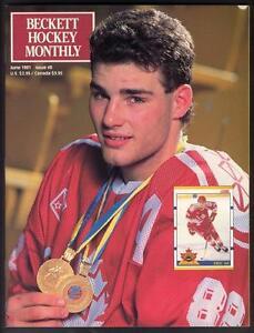 Beckett Hockey # 8 - June 1991 - ERIC LINDROS cover