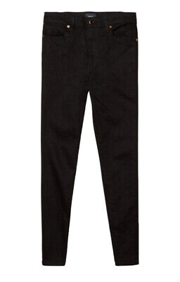 Khaite Kassandra Black Denim Ankle Length Skinny Jeans Waist Size 25 (XS)