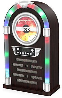 iTek Bluetooth Multi Functional LED Jukebox Speakers Radio CD player, I60018CD