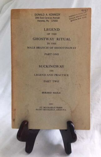 Navajo Ghostway and Suckingway by Berard Haile—Very Rare 1950 Paperback