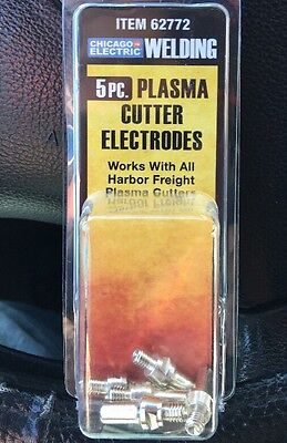 Chicago Electric Welding 5 Pc Plasma Cutter Electrodes Item 62772