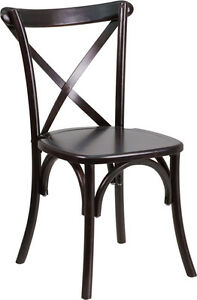 100 - RESTAURANT CROSS BACK WOODEN DINING CHAIR Peterborough Peterborough Area image 2