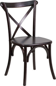 100 - RESTAURANT CROSS BACK WOODEN DINING CHAIR Peterborough Peterborough Area image 1