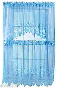 Blue Lace Curtains Ebay