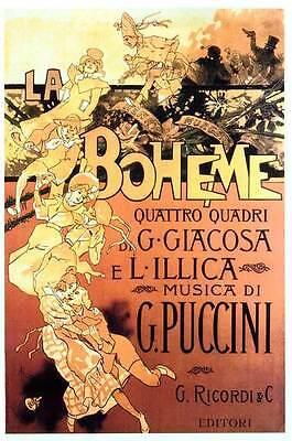 LA BOHEME Movie Promo POSTER Italian Mirella Freni Gianni Raimondi Rolando