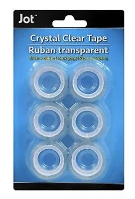 Crystal Clear Transparent Tape Jot 34in X 600in 16.67yds - 6 Pcs