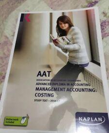 AAT level 3 Kaplan MMAC ( costing ) 2017 Study Text
