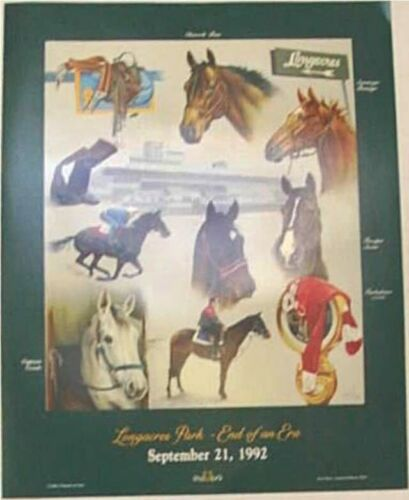 THE Only LongAcres Race Track Poster Commemorating the Closure