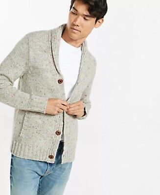 EXPRESS MEN'S SIZE EXTRA LARGE XL NEP KNIT SHAWL COLLAR CARDIGAN SWEATER