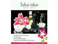 We offer traditional Thai massage treatments for relaxation and wellbeing