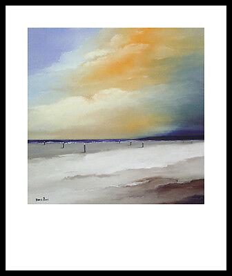 Hans Paus Endless I Poster Bild Kunstdruck mit Alu Rahmen in schwarz 60x50cm