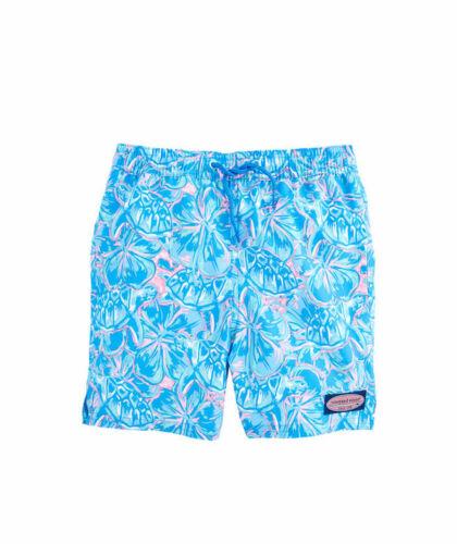 Vineyard Vines Chappy Tropical Turtles Swim Suit Trunks Shorts Beach Boys L NWT