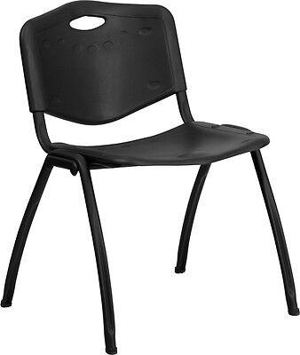 Flash Furniture Hercules Series 880 Lb. Capacity Black Plastic Stack Chair