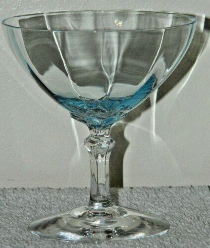 SET OF 11 FOSTORIA FAIRFAX AZURE BLUE 5098 LOW SHERBET CHAMPAGNE MARTINI