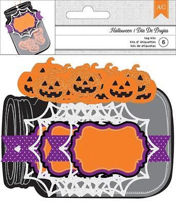 Halloween Jars Crafts (AMERICAN CRAFTS   -   Halloween Tag  (Jar) Embellishments (6 pieces) )