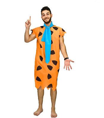 Adult Fred Flintstone Fancy Dress Costume Mens Flintstones Caveman (Adult Kostüm Fred)