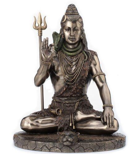 10 Inch Meditating Shiva Statue Hindu Deity Sculpture Hinduism Home Decor
