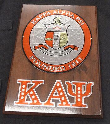 Kappa Alpha Psi Acrylic and Wood Crest Wall