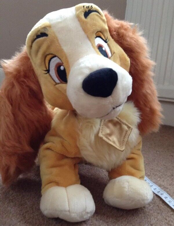 Disney Store Lady And The tramp dog Soft Plush Toy