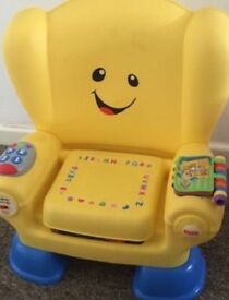 Laugh and learn chair and bilingual play table