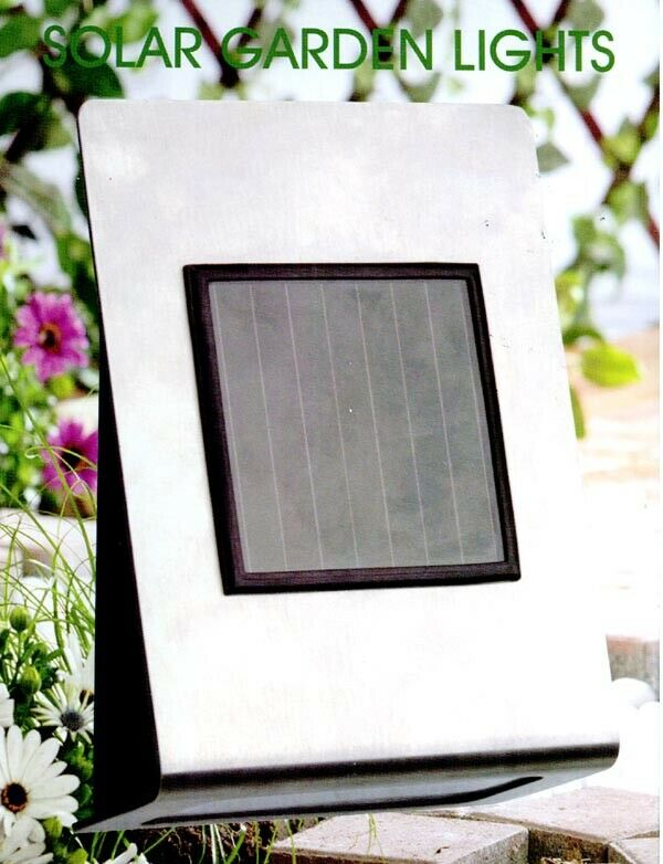New CableVantage Stainless Steel Solar Wall Steps Mounting Light set of 1,2,4,8 Home & Garden
