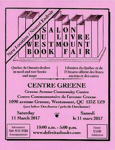 SALON DU LIVRE WESTMOUNT ANTIQUARIAN BOOK FAIR