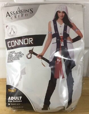 Assassins Creed Connor Costume New Large 12-14 Complete Set Cosplay Halloween ()