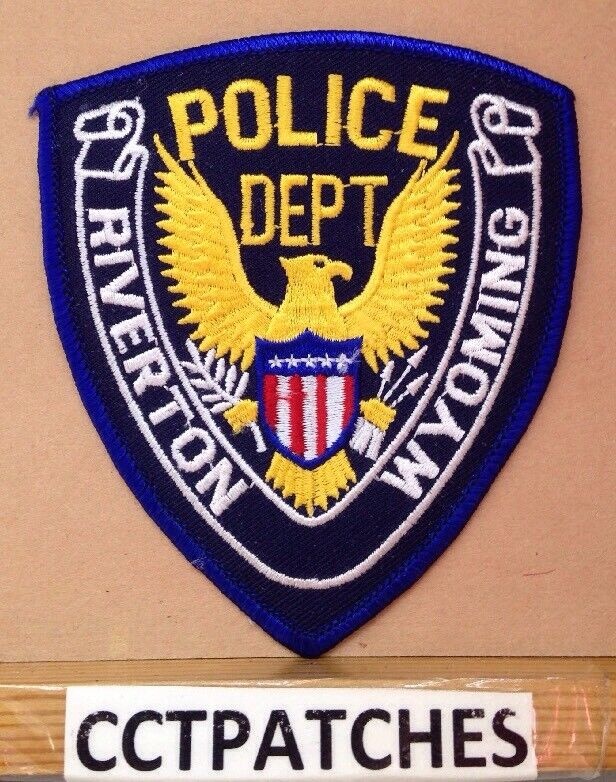 RIVERTON, WYOMING POLICE STOCK EAGLE SHOULDER PATCH WY
