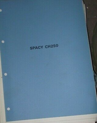 HONDA  SPACY CH250 WORKSHOP  MANUAL  (DATE OF ISSUE MARCH 1985)
