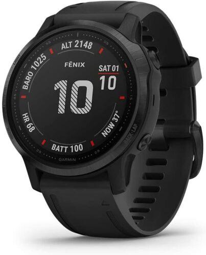 Garmin fenix 6s Pro Multisport GPS Watch - Black with Black Band