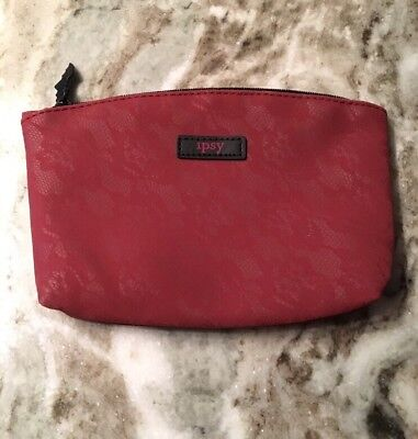 October 2017 Halloween Bat Ipsy Bag Red Lace Brand New Makeup Cosmetic Case](Halloween Bat Makeup)
