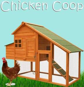 HUGE Delux Wooden Chicken Coop Hen House Rabbit Hutch Guinea Pig Castle Hill The Hills District Preview