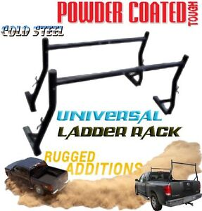 2x Universal Steel Ladder Racks 4x4 4WD Ute Truck Rack Roof Carrier Kayak Black