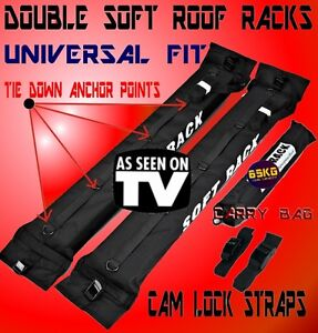 Soft Roof Racks Universal Car Roof Luggage Rack kayak surfboard fishing skis SUP