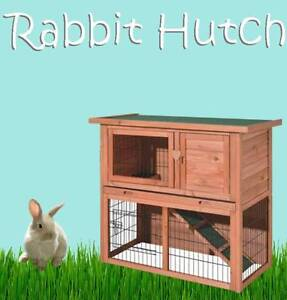 LARGE DELUXE WOODEN RABBIT HUTCH GUINEA PIG HOUSE CAGE FERRET NEW Castle Hill The Hills District Preview