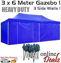 3X6 M GAZEBO TENT FOR BBQ FETE MARKET STALL MARQUEE BLUE OR BLACK Castle Hill The Hills District Preview