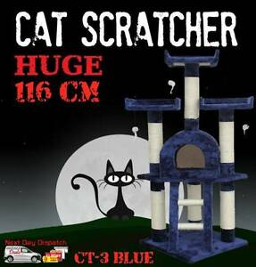Deluxe Cat Scratcher Scratching Post Scratch Pole Tree House BLUE Castle Hill The Hills District Preview