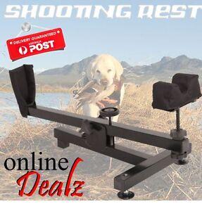 Steel Padded Bench Rest Front Bag Benchrest Gun Rifle Range Shooting Hunting New