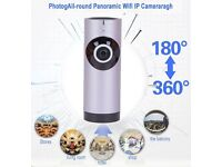 Fish eye 180 internal surveillance camera/plug and play access via smart device through wifi