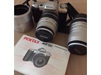 Pentax MZ-50 Camera with two Sigma lenses