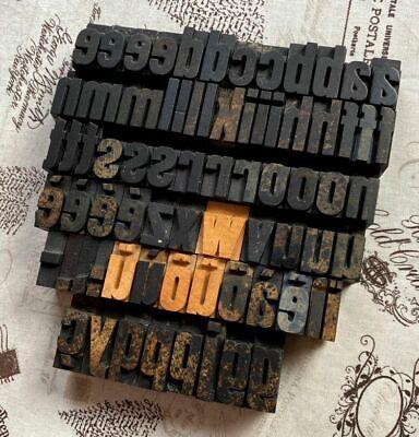 A-z Alphabet 1.06 Letterpress Wooden Printing Blocks Wood Type Vintage Retro .