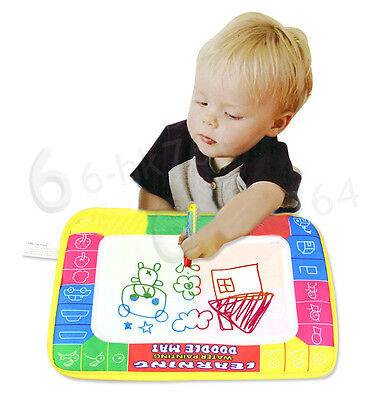Kids Toys Water Painting Mat Scrawl Drawing Magic Pen for Child Baby Toddler UK