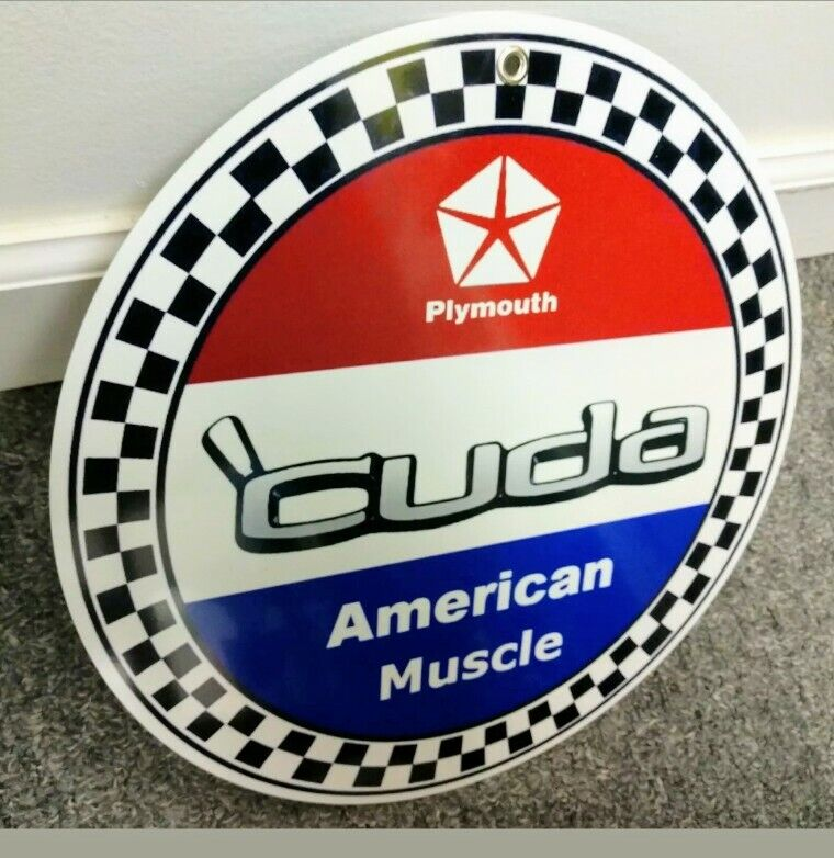 Plymouth Barracuda sign ~12 inch